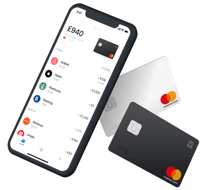 phone with Revolut for business app open