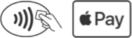 Use o ApplePay sempre que vir um destes símbolos.
