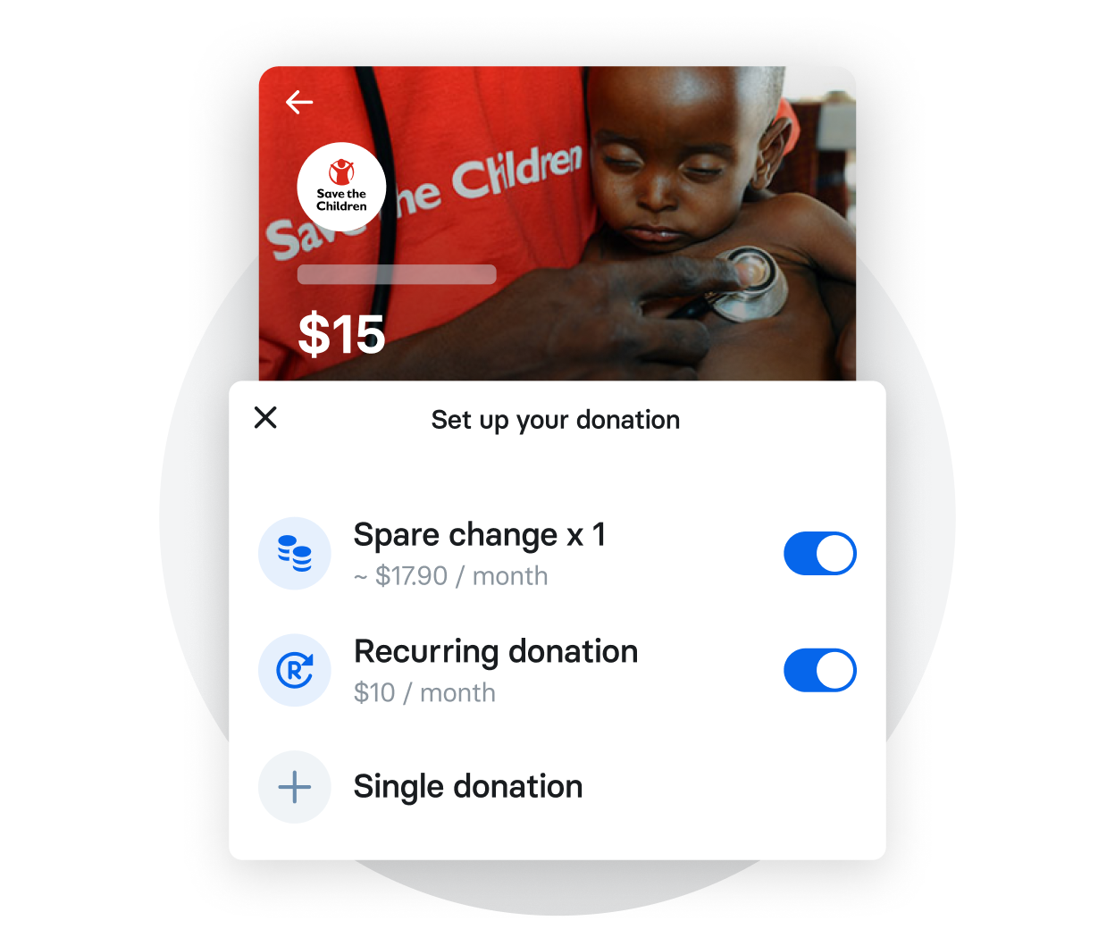 You choose how to make a donation