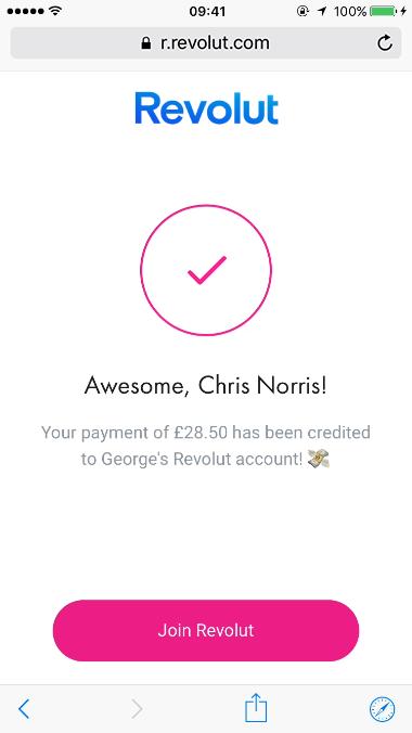 Seja reembolsado por pessoas que não usam a Revolut com as ligações para pagamento