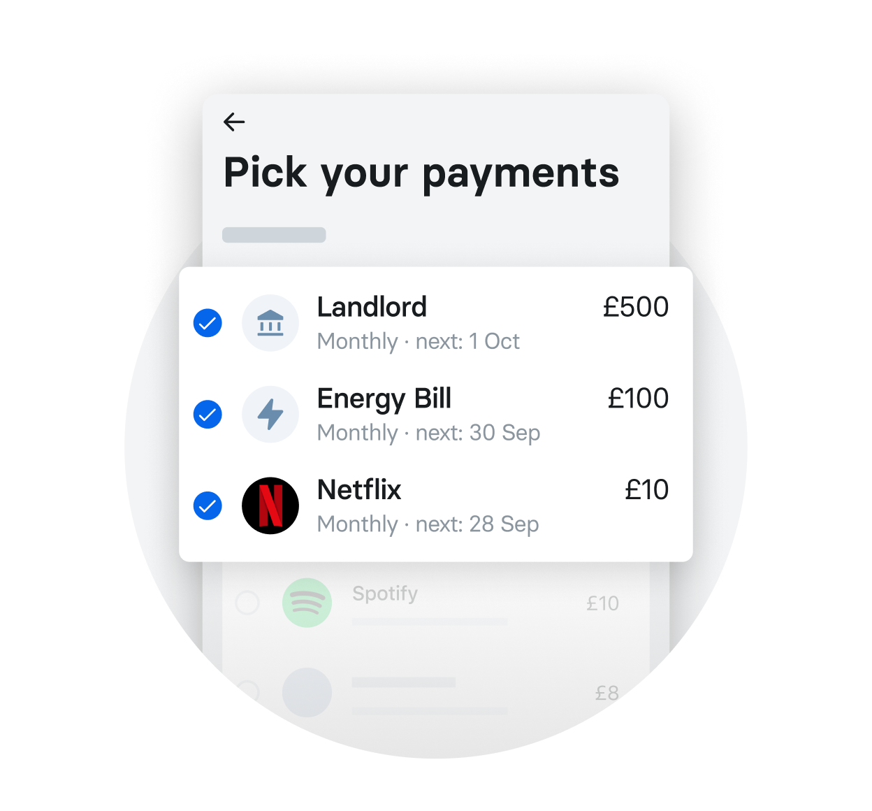 All your bills – effortlessly organised