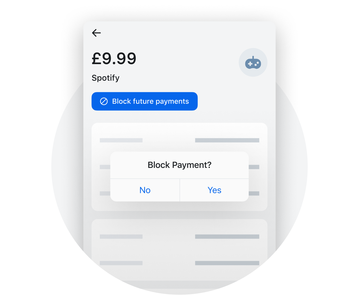 Block subscription payments easily
